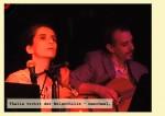 Silke Saalfrank als Thalia und Frank Junker als Melpomene