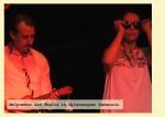 Silke Saalfrank als Thalia und Frank Junker als Melpomene in Dylanesquer Harmonie